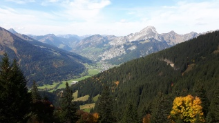View of la Chapelle d'Abondance from le Mouet above Chatel