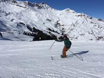 Skiing in Champery, Portes du Soleil
